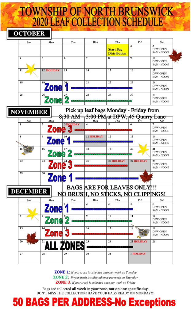 2020 leaf collection schedule