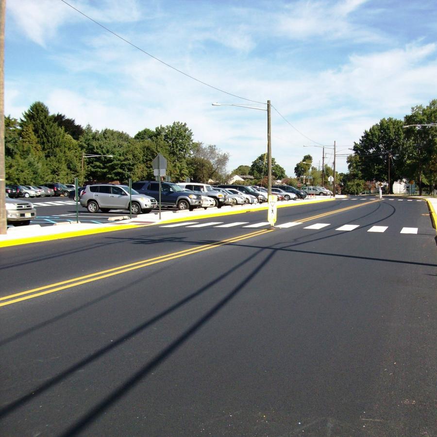 road with crosswalk